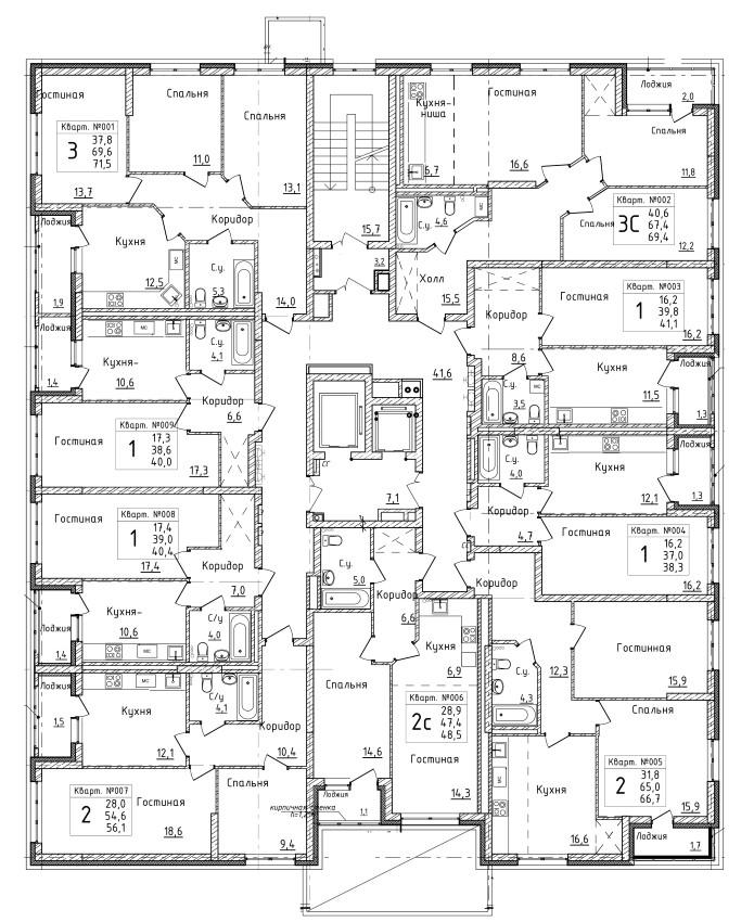 Первый дом 16 этаж
